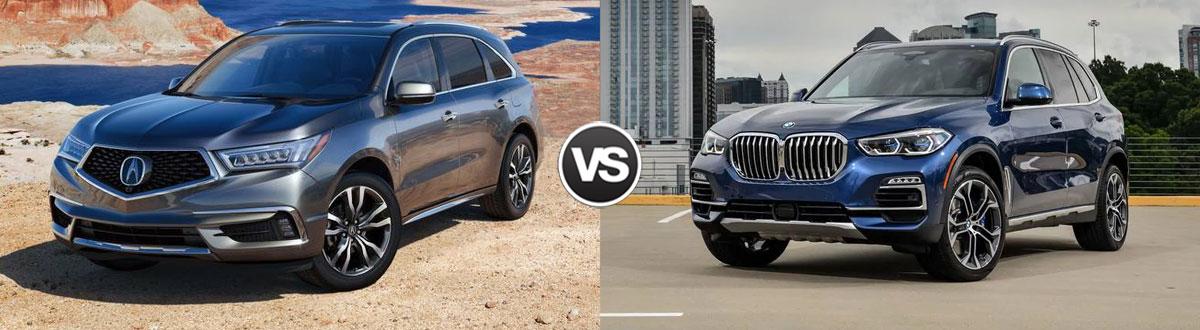 2020 Acura MDX vs 2020 BMW X5