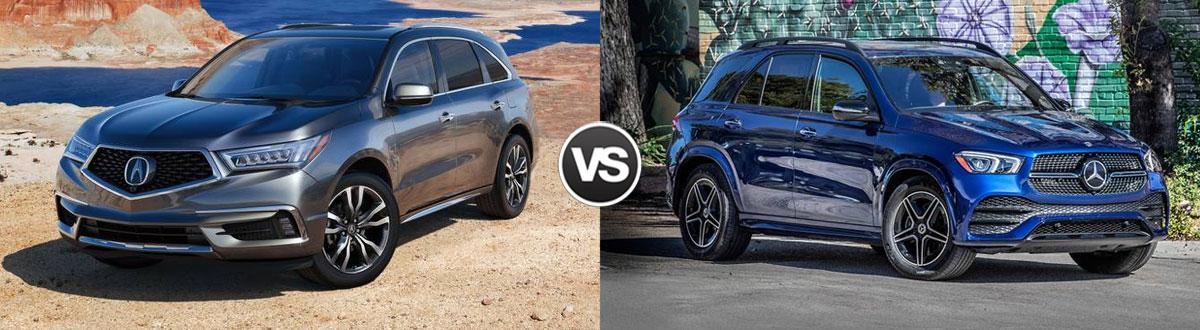 2020 Acura MDX vs 2020 Mercedes-Benz GLE