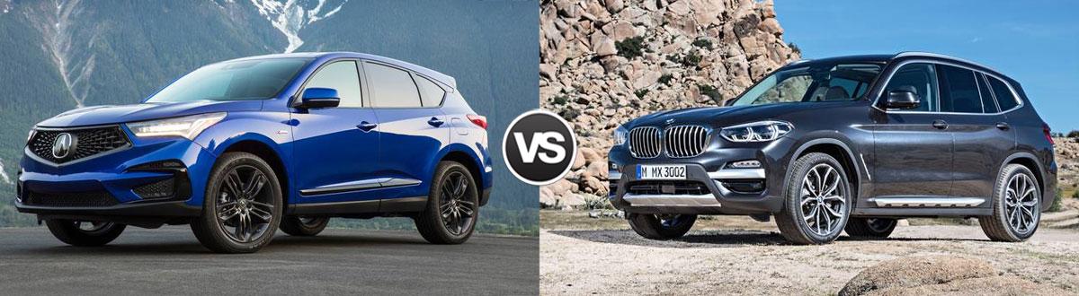 2020 Acura RDX vs 2020 BMW X3