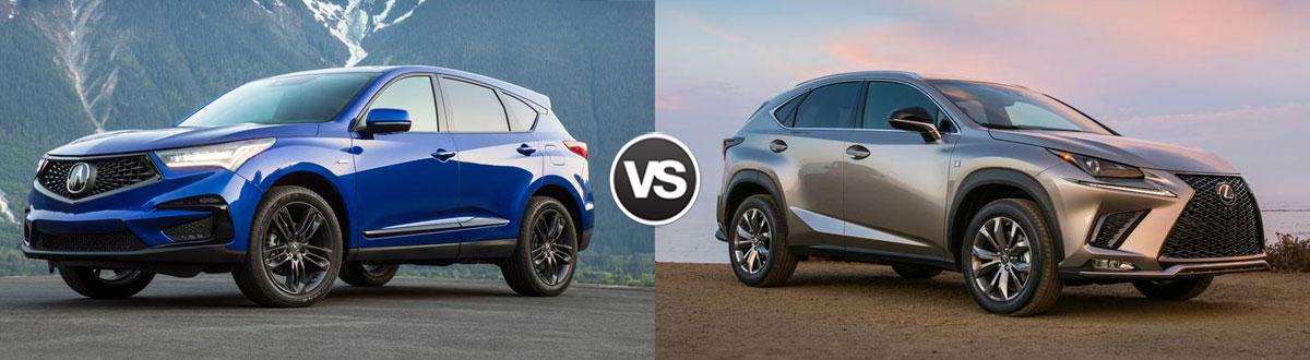 2020 Acura RDX vs 2020 Lexus NX