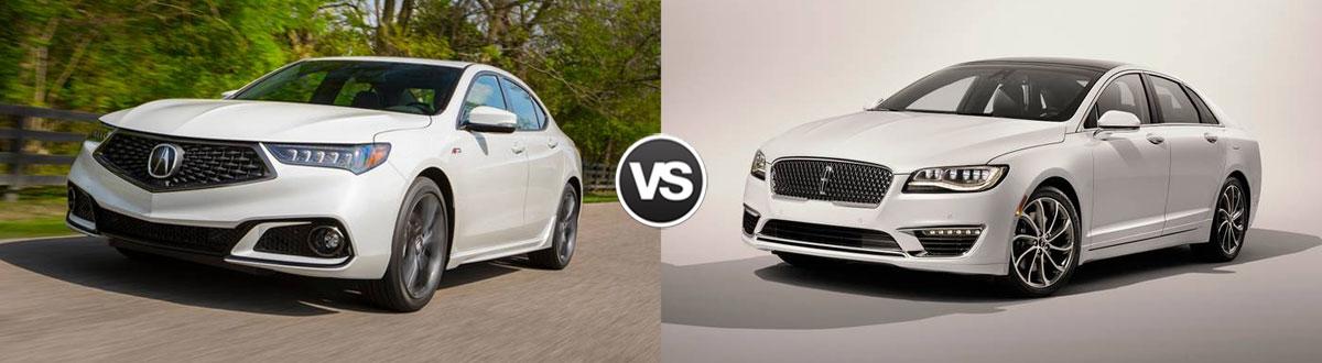 2020 Acura TLX vs 2020 Lincoln MKZ