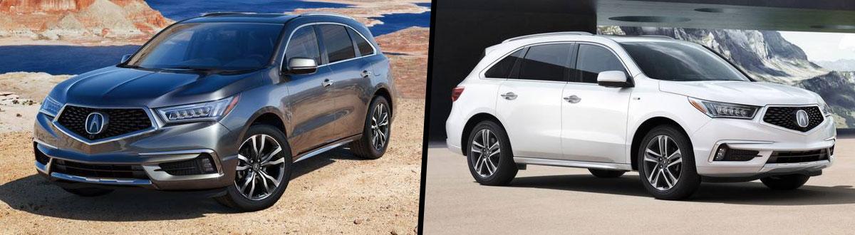 2020 Acura MDX vs 2020 Acura MDX Sport Hybrid