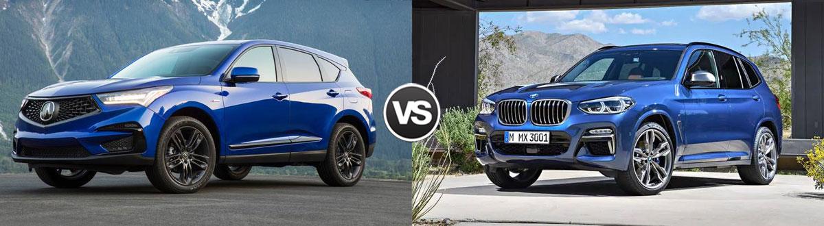 2021 Acura RDX vs 2021 BMW X3