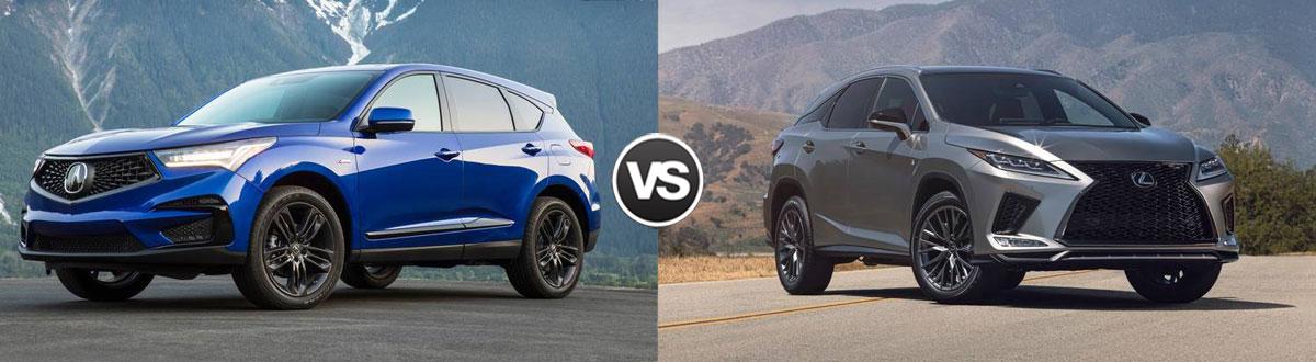 2021 Acura RDX vs 2021 Lexus RX 350