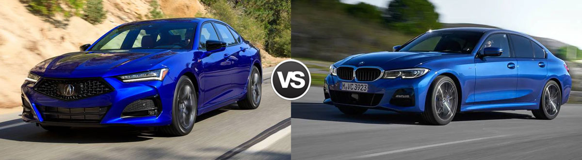 2021 Acura TLX vs 2021 BMW 3 Series