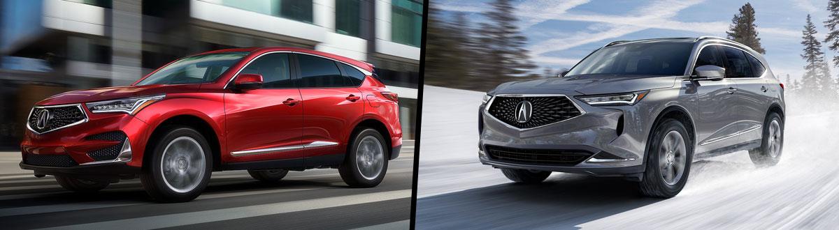 2021 Acura RDX vs 2022 Acura MDX