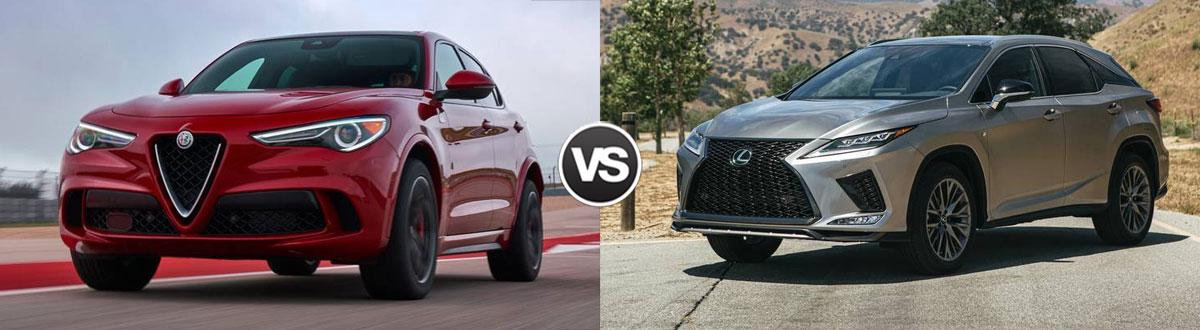 2020 Alfa Romeo Stelvio vs 2020 Lexus RX
