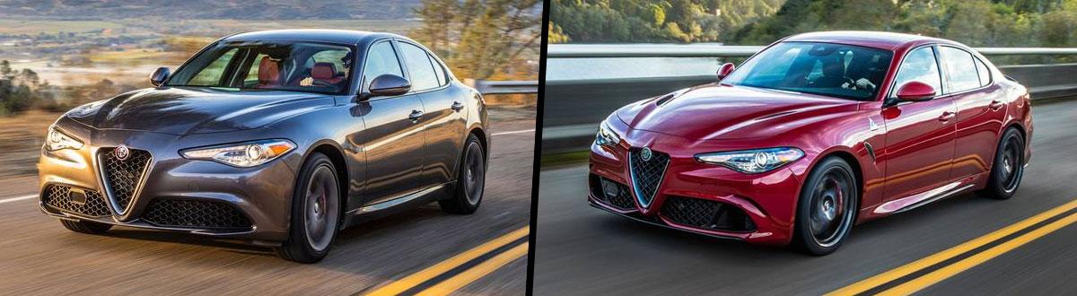 2020 Alfa Romeo Giulia vs 2020 Alfa Romeo Giulia Quadrifoglio