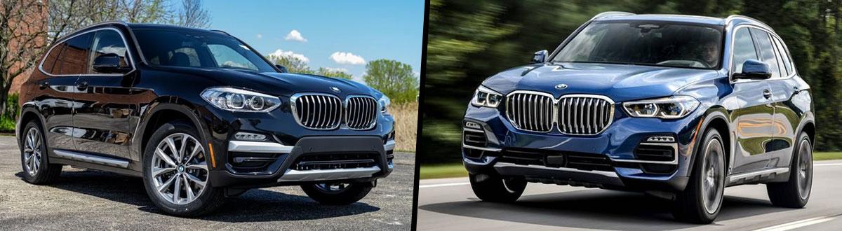 2019 BMW X3 vs 2019 BMW X5