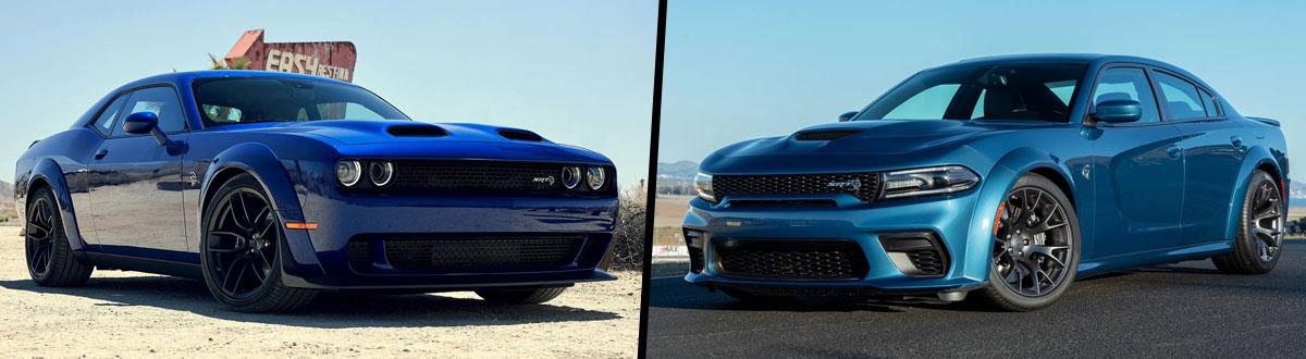 2021 Dodge Challenger SRT® Hellcat vs 2021 Dodge Charger SRT® Hellcat Widebody