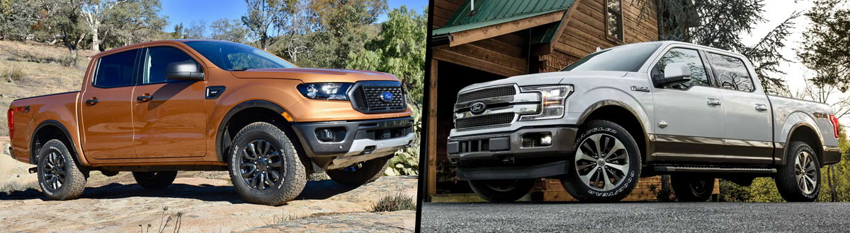 2019 Ford Ranger vs 2019 Ford F-150