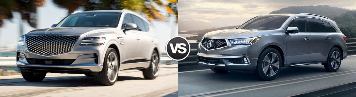 Compare 2021 Genesis GV80 vs 2020 Acura MDX   Troy MI