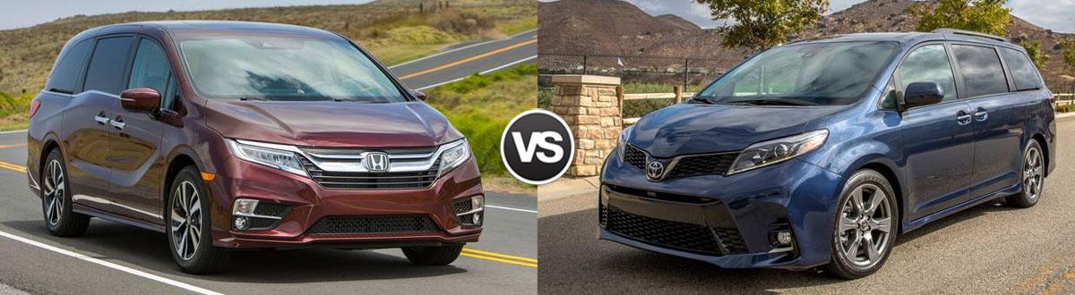 2020 Honda Odyssey vs 2020 Toyota Sienna