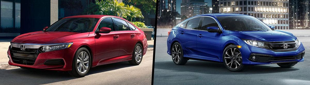 2020 Honda Accord vs 2020 Honda Civic