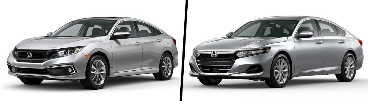 2021 Honda Civic EX vs 2021 Honda Accord LX