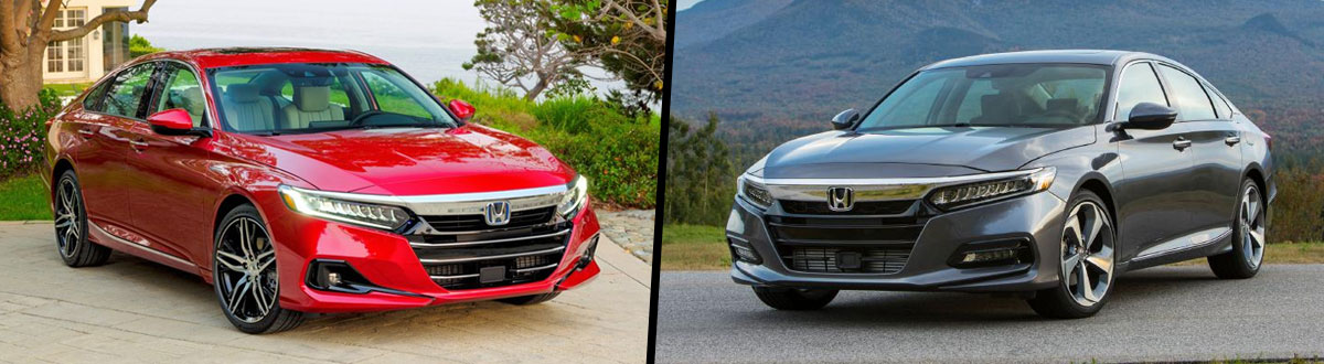 2021 Honda Accord vs 2020 Honda Accord