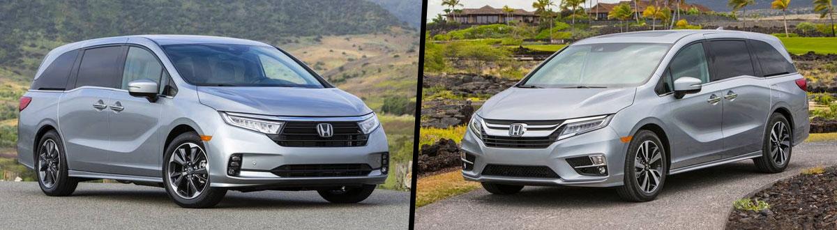2021 Honda Odyssey vs 2020 Honda Odyssey