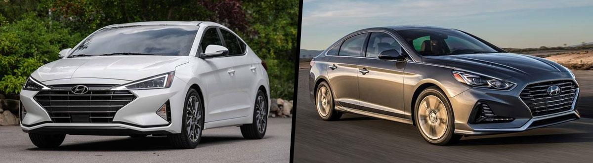 Elantra Vs Sonata >> 2019 Hyundai Elantra Vs 2019 Hyundai Sonata Comparison In
