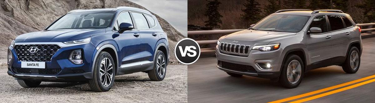2020 Hyundai Santa Fe vs 2020 Jeep Cherokee