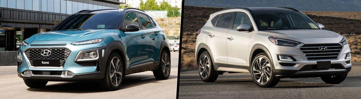 2020 Hyundai Kona vs 2020 Hyundai Tucson