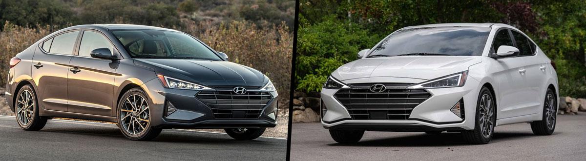 2020 Hyundai Elantra vs 2019 Hyundai Elantra