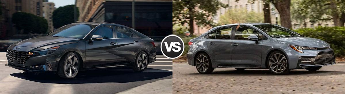 2021 Hyundai Elantra vs 2021 Toyota Corolla