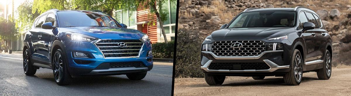 2021 Hyundai Tucson vs 2021 Hyundai Santa Fe