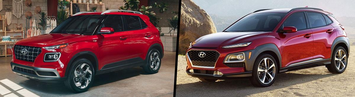 2021 Hyundai Venue vs 2021 Hyundai Kona