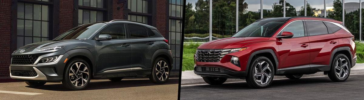 2022 Hyundai Kona vs 2022 Hyundai Tucson
