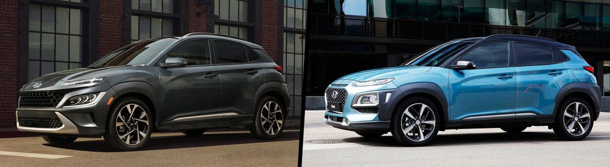 2022 Hyundai Kona vs 2021 Hyundai Kona