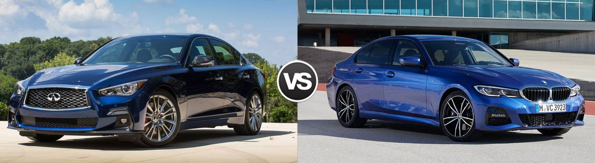 2020 INFINITI Q50 vs 2020 BMW 3 Series