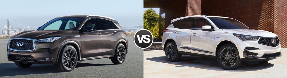 2020 INFINITI QX50 vs 2020 Acura RDX