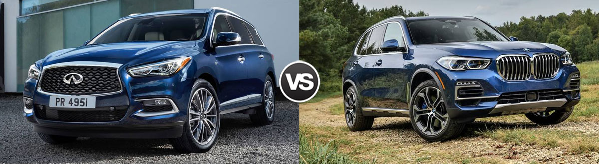 2020 INFINITI QX60 vs 2020 BMW X5