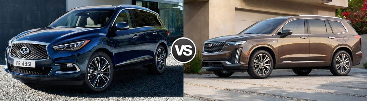 2020 INFINITI QX60 vs 2020 Cadillac XT6