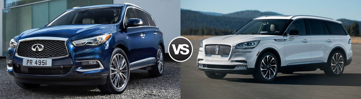 2020 INFINITI QX60 vs 2020 Lincoln Aviator