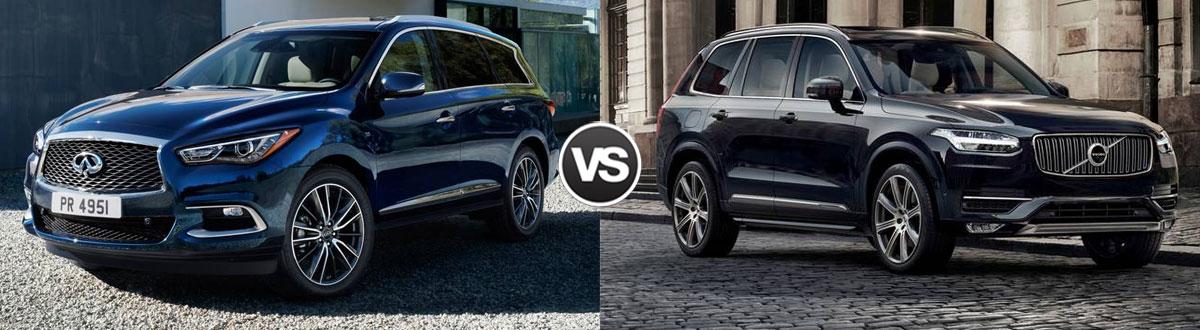 2020 INFINITI QX60 vs 2020 Volvo XC90