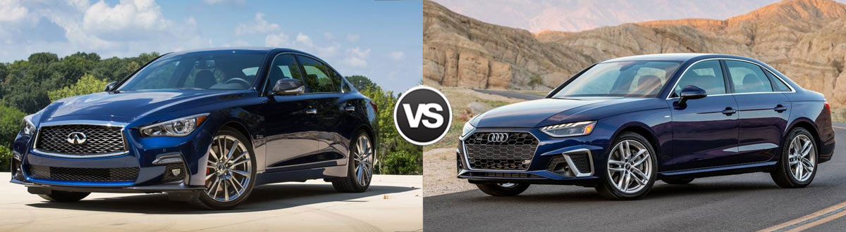 2021 INFINITI Q50 vs 2021 Audi A4