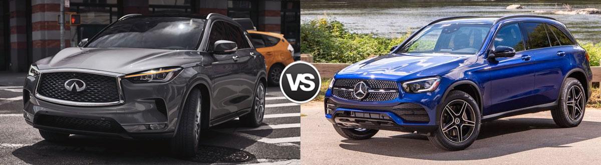 2021 INFINITI QX50 vs 2021 Mercedes-Benz GLC