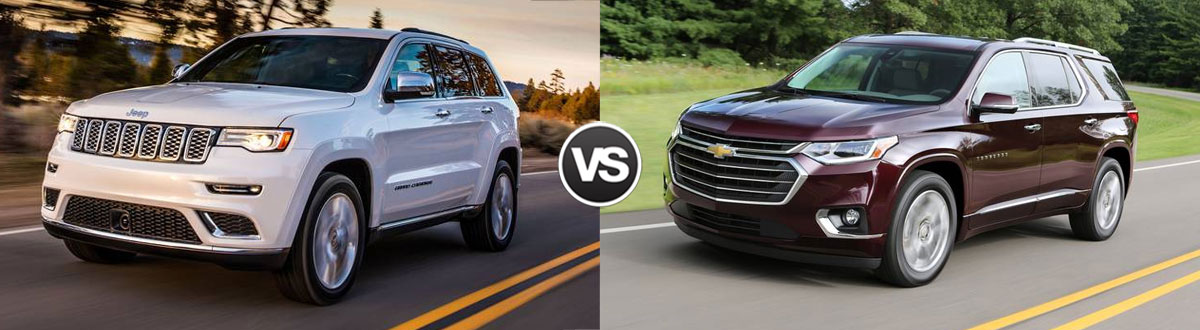 2020 Jeep Grand Cherokee vs 2020 Chevy Traverse
