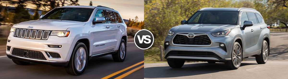 2020 Jeep Grand Cherokee vs 2020 Toyota Highlander