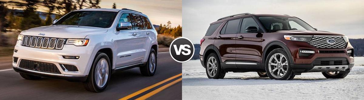 2021 Jeep Grand Cherokee vs 2021 Ford Explorer