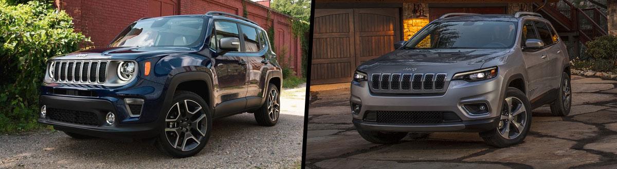 2021 Jeep Renegade vs 2021 Jeep Cherokee
