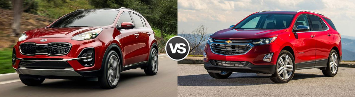 2020 Kia Sportage vs 2020 Chevy Equinox