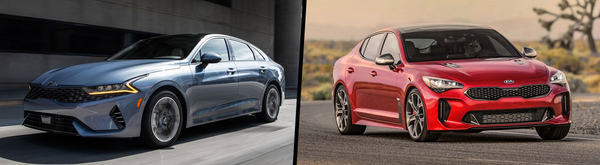 2021 Kia K5 vs 2020 Kia Stinger