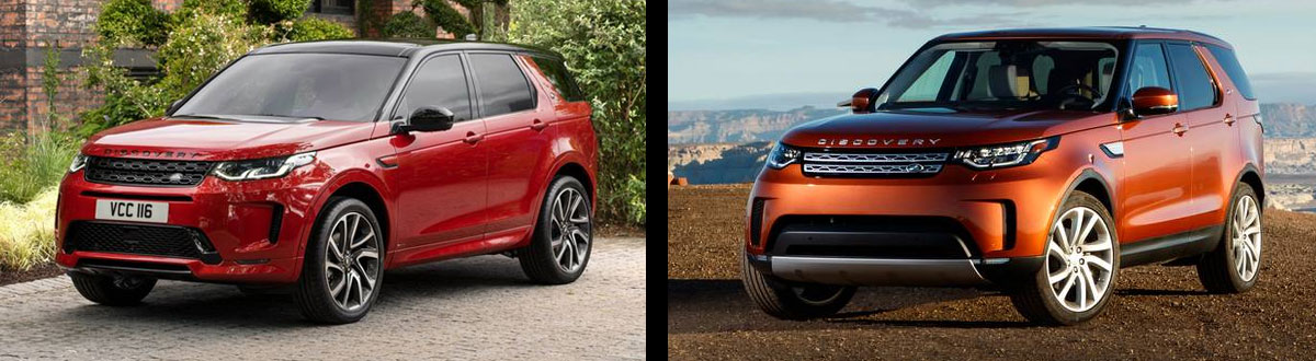 2020 Land Rover Discovery Sport vs 2020 Land Rover Discovery