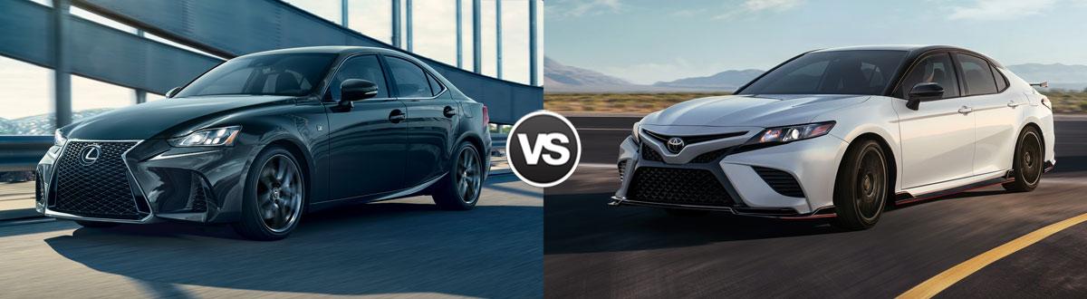 2020 Lexus IS vs 2020 Toyota Camry TRD