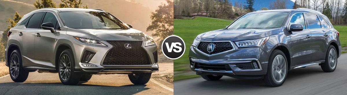 2020 Lexus RX 350 vs 2020 Acura MDX