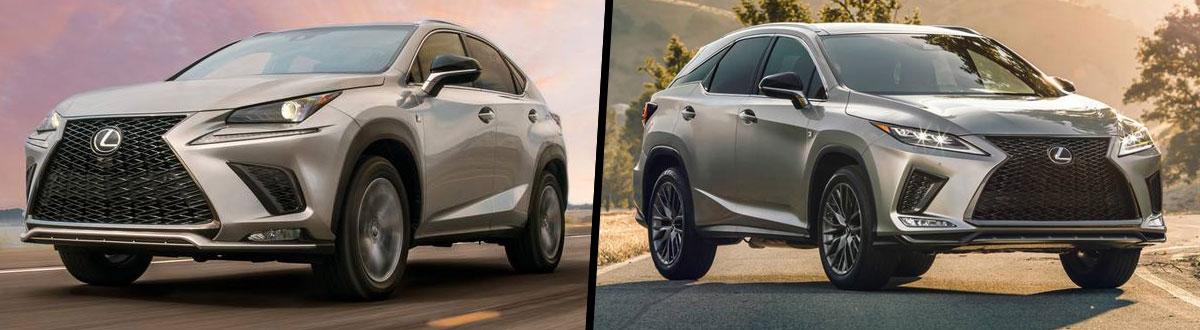 2020 Lexus NX 300 vs 2020 Lexus RX 350