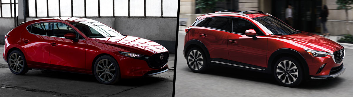 2019 Mazda3 Hatchback vs 2019 Mazda CX-3
