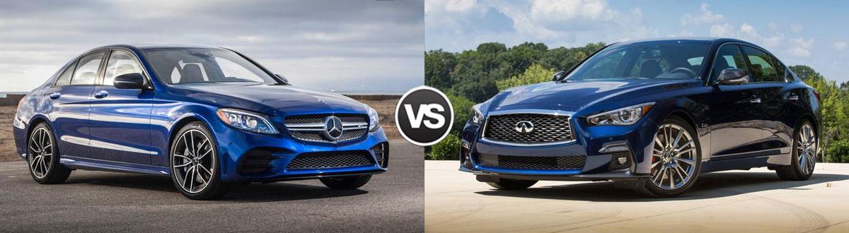 2019 Mercedes-Benz C-Class vs 2019 INFINITI Q50